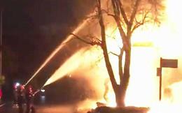 Cháy lớn tại ngân hàng VP Bank ở Quảng Bình