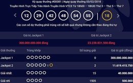 Jackpot 1 vượt 300 tỷ đồng, hai khách hàng 'ẵm' Jackpot 2 hơn 23 tỷ