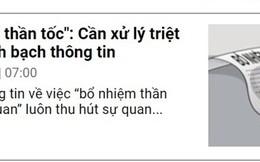 """Bí thư Tỉnh ủy Quảng Bình chỉ đạo báo cáo vụ """"bổ nhiệm thần tốc"""""""