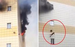 Khoảnh khắc kinh hoàng khi cậu bé 11 tuổi lao mình khỏi đám cháy từ độ cao 12m, cha mẹ không ai sống sót