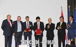 Vietjet, T&T ký nhiều thỏa thuận hàng trăm triệu USD trong chuyến thăm Pháp của Tổng bí thư