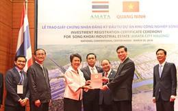 Quảng Ninh trao giấy chứng nhận đầu tư dự án phát triển KCN trị giá trên 3.500 tỷ đồng