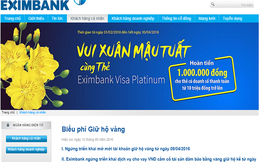 Tiếp tục có khách hàng tố mất vàng gửi tại Eximbank