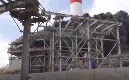 Cháy lớn tại nhà máy nhiệt điện, kỹ sư, công nhân đu dây từ công trình xuống đất