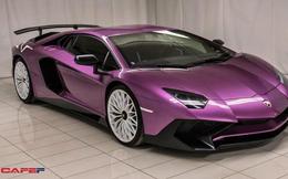 Chiêm ngưỡng siêu xe cực hiếm Lamborghini Aventador phiên bản màu tím đầy mê hoặc