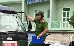 Công an Hải Phòng thông tin chính thức vụ cảnh sát trật tự bám trên cần gạt nước xe tải