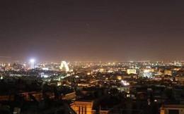 Nổ lớn trên bầu trời Syria, hình ảnh đầu tiên về cuộc tấn công của liên minh Mỹ-Anh-Pháp