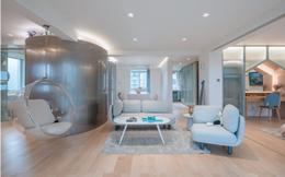 Thiết kế phá cách, ấn tượng của căn hộ hơn 100m2 cho gia đình có con nhỏ