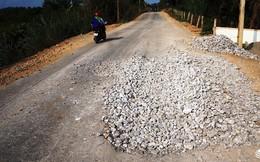 Nghệ An: Đường gần 50 tỷ vừa làm xong, chưa nghiệm thu đã hư hỏng