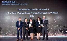 """BIDV được vinh danh """"Ngân hàng cung cấp dịch vụ thanh toán tốt nhất"""" và """"Ngân hàng giao dịch tốt nhất tại Việt Nam"""""""