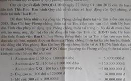 Cơ quan phòng chống thiên tai đề xuất mua áo mưa 1 triệu đồng/bộ cho lãnh đạo tỉnh