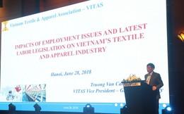 Hiệp hội Dệt may đề nghị tăng số giờ làm thêm của công nhân và kéo dài thời gian tăng lương tối thiểu