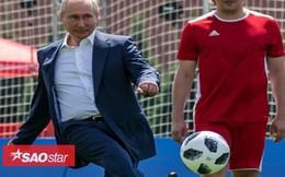 Tổng thống Putin trổ tài đá bóng trên Quảng trường Đỏ