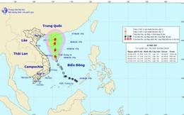 Áp thấp nhiệt đới mạnh thêm và di chuyển theo hướng Bắc