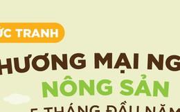 Infographic: Bức tranh thương mại nông sản 5 tháng đầu năm