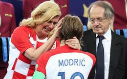 Nữ Tổng thống Croatia gây bất ngờ khi đạt con số vượt xa tiền vệ Modric