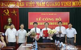 Tỉnh ủy Nghệ An điều động, bổ nhiệm nhân sự chủ chốt