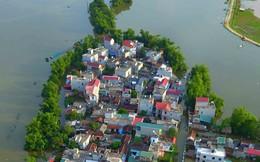 [Photo] Người dân nhiều xã ven sông Tích bì bõm trong nước
