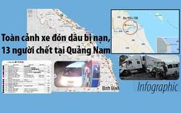 Toàn cảnh xe đón dâu bị nạn, 13 người chết tại Quảng Nam