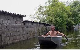 """Vỡ đê Bối ở Hà Nam: Người dân Đinh Xá """"chìm nổi"""" trong dòng nước lũ"""