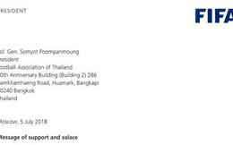 FIFA gửi lời mời đội bóng Thái Lan bị mắc kẹt đến trận chung kết World Cup 2018