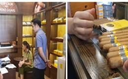 (HOT) Kiểm tra 5 cửa hàng bán xì gà ở Hà Nội, thu giữ cả đống hàng dởm