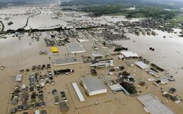 Những hình ảnh về trận mưa lũ lịch sử ở Nhật Bản