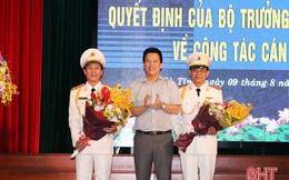 Bổ nhiệm, điều động 2 Phó Giám đốc Công an tỉnh Hà Tĩnh