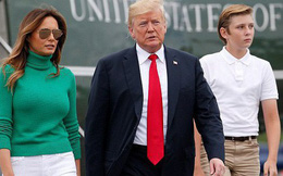 """Không còn """"mặt búng ra sữa"""", cậu út nhà Trump đã vụt cao lớn, chững chạc, đẹp trai tựa """"nam thần"""" như thế này đây"""