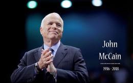 Thượng nghị sĩ Mỹ John McCain qua đời ở tuổi 81: Cuộc đời nhiều sóng gió