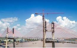 Những hình ảnh thi công cuối cùng trên cầu Bạch Đằng