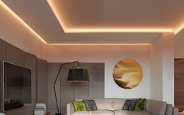 Thiết kế đèn âm tường giúp căn hộ trở nên lung linh