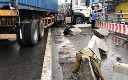 Xe container đại náo trên cầu, quốc lộ 1A tê liệt