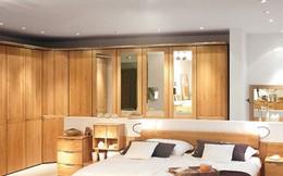 Thiết kế phòng ngủ với nội thất bằng gỗ ấm áp