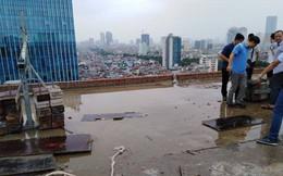 Cận cảnh nơi đặt cần trục rơi xuống đường Lê Văn Lương khiến mẹ đơn thân tử vong