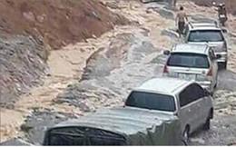 Ảnh: Lũ quét và ngập úng ở Lai Châu, giao thông nhiều nơi ách tắc