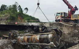 Cầu trơ lõi thép sau vụ cháy xe bồn trên cao tốc Nội Bài - Lào Cai