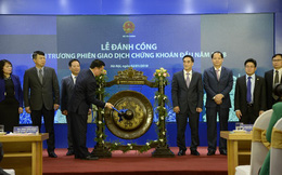 Bộ trưởng Bộ tài chính đánh cồng khai trương phiên giao dịch đầu năm 2018, chỉ đạo 5 nhiệm vụ