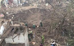 Hiện trường vụ nổ làm 2 người chết, 7 người bị thương, nhiều nhà dân bị tốc mái
