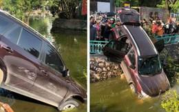 """Ô tô phi qua dải phân cách, lao xuống hồ Trúc Bạch, lái xe vẫn đòi """"nổ máy lùi xe lên"""""""