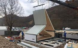 Chỉ mất 6 tiếng để xây dựng một căn nhà gỗ sang trọng và vô cùng tiện nghi