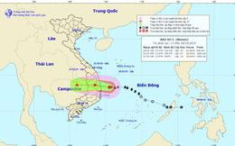 Bão số 5 giật cấp 12 cách Bình Định - Khánh Hòa khoảng 120km