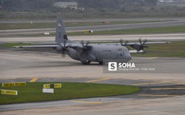 """""""Lực sĩ"""" C-130 Hercules chuyển hành trang của tổng thống Trump tới Hà Nội"""