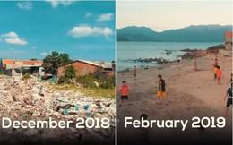Clip về sự thay đổi của bãi biển Nha Trang nhờ nhóm bạn ngoại quốc khiến cộng đồng trầm trồ: Nơi ngập rác thành sân bóng cho trẻ em