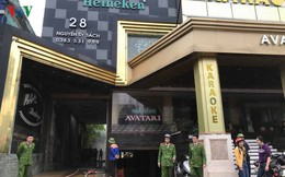 Hiện trường vụ cháy tổ hợp khách sạn, quán bar, karaoke ở TP Vinh