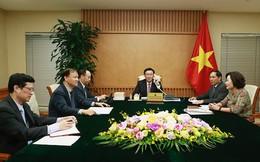 Phó Thủ tướng Vương Đình Huệ điện đàm với Bộ trưởng Tài chính Mỹ