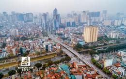 """""""Rừng"""" cao ốc chung cư dọc tuyến metro Cát Linh - Hà Đông nhìn từ trên cao"""
