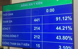 214 đại biểu Quốc hội ủng hộ phương án cấm uống rượu bia khi lái xe nhưng cũng có tới 212 đại biểu không đồng ý