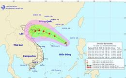 Vùng áp thấp đã mạnh lên thành áp thấp nhiệt đới trên Biển Đông