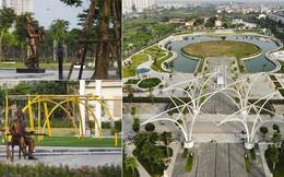 Ngắm hồ công viên hình chiếc đàn rộng 6 hecta sắp hoạt động ở Hà Nội